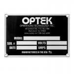 printed aluminum nameplates industrial metal nameplates